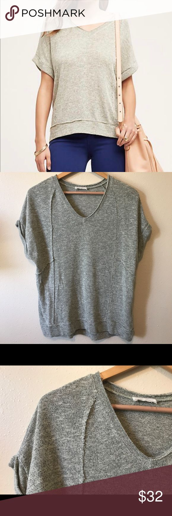 Anthropologie On the Road Sprinter Neutral Tee Size Medium in very very good used condition! Very little signs of wear. In a neutral/beige/gray colorway. Fits true to size. Anthropologie Tops Tees - Short Sleeve