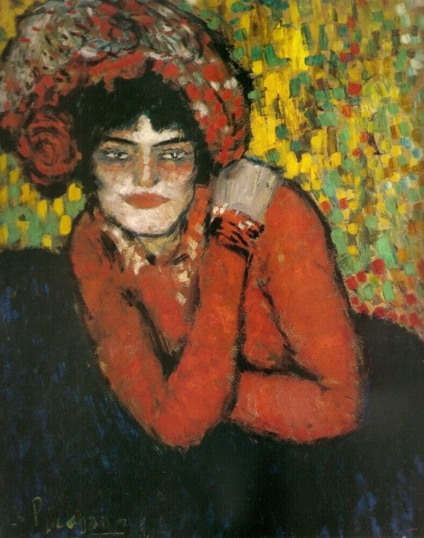 Pablo Picasso, The Wait (Margot), 1900, Museu Picasso, Barcelona early picasso