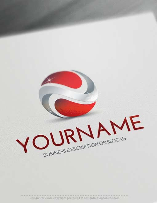Design Free 3D Abstract Logo Template Ready madeOnline 3D Abstract Logo Template decorated with an imageof a 3D yin yang. This professional logos excellent forconsulting, management, computers, High Tech etc.  How to design free logo online? 1- Customize This logo with our free logo maker tool -Change you company name, slogan, colors & fonts. 2- Like your design?