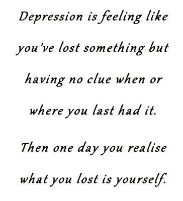 This quote inspires me because when ever I feel depressed I always feel this type of way.