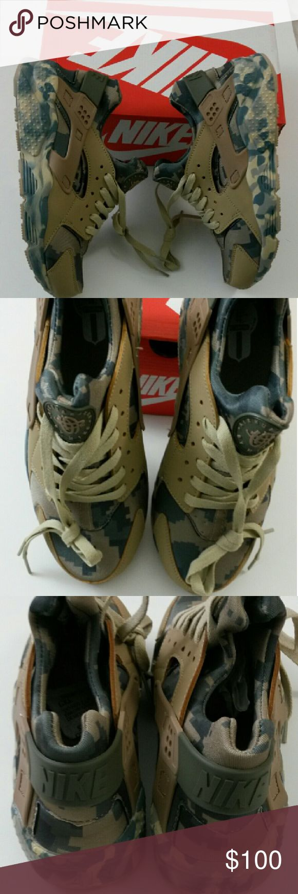 Nike Huarache Camo Men's Size 8 NIB Brand new camouflage style Huarache shoes never worn with box! Nike Shoes Athletic Shoes