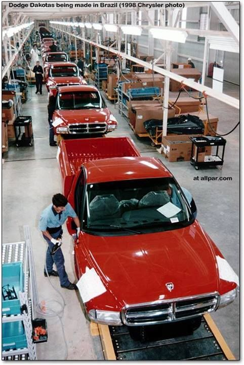 1998 Dodge Dakota production line - Brasil