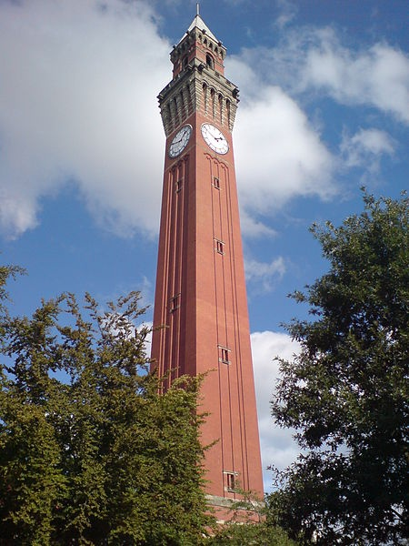 Joseph Chamberlain Memorial Clock Tower in the University of Birmingham