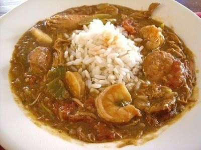 i know it sounds blasphemous, but i may just have to try this (w/my own roux, of course) - Crock Pot Gumbo