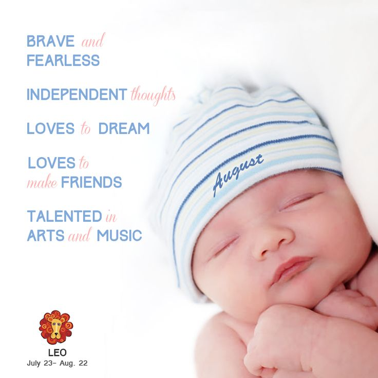 What is your baby's personality? August baby!