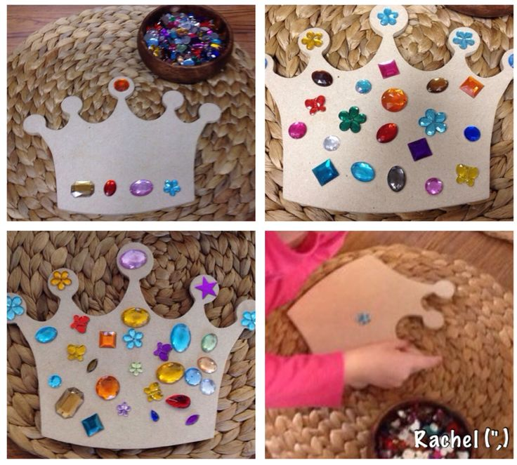 "Decorating a crown - from Rachel ("",)"