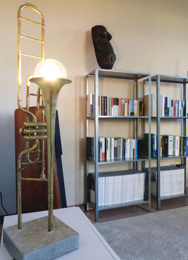 Trombone lamp | Northern Italy | Interior design | Living room | Italian interiors