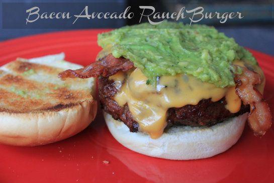Bacon Avocado Ranch Burger Recipe