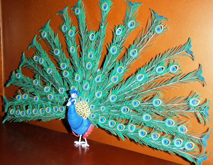 3D Quilling Peacock