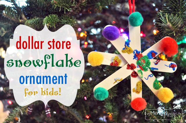 Dollar Store Christmas Tree Ornament Craft for Kids