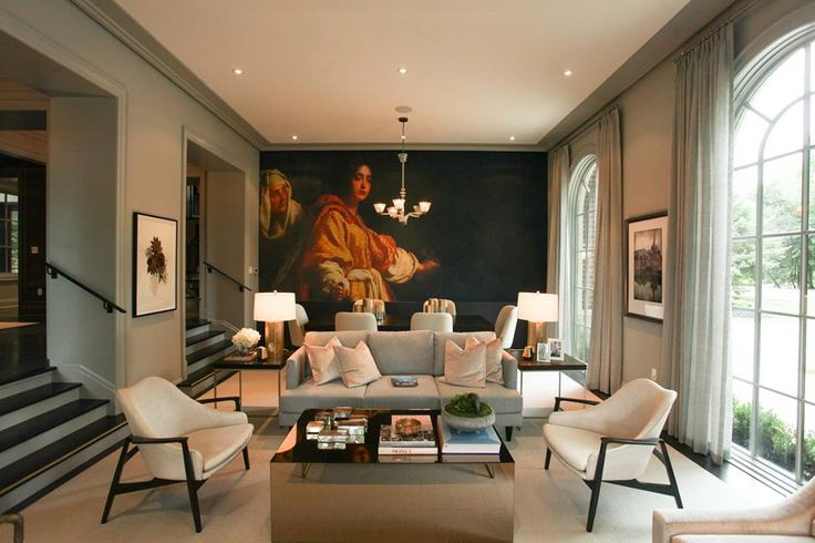 luxury living room custom-built by Carlos Jardino and PCM Inc for the 2015 Princess Margaret Oakville Showhome