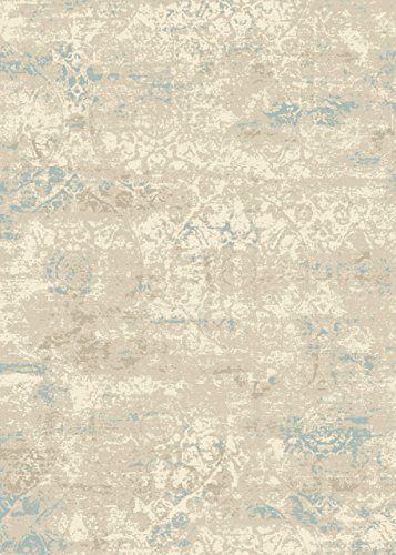 Teppich Wohnzimmer Carpet Modern Design XICO FADED MEDALLION RUG 100 Polypropylen 160x230 Cm Rechteckig Blau