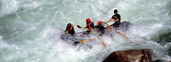 White water rafting on Cherry Creek (the Upper Toulemne).