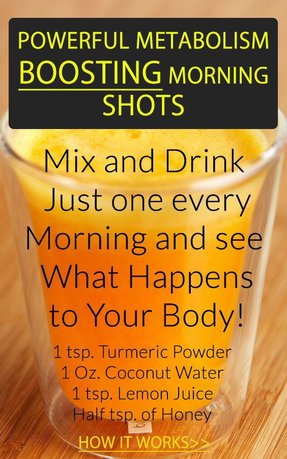Powerful, Metabolism and Antioxidant-Boosting Morning Shots for Great Health and Weight Loss!