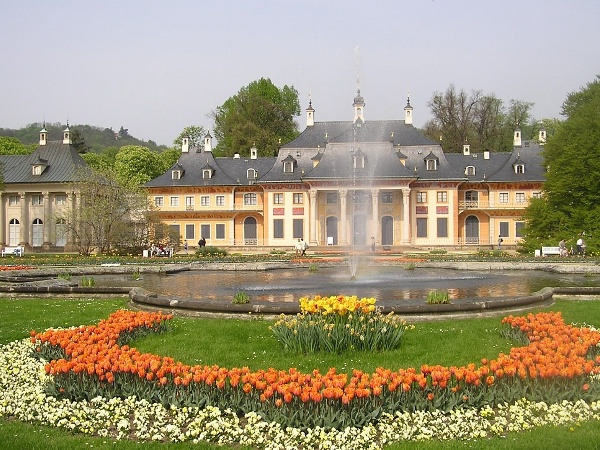 The beautiful Schloss Pillnitz.
