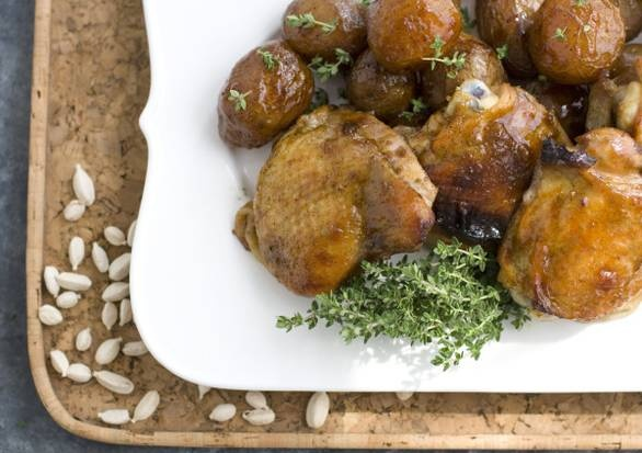 Cardamom-honey chicken thighs | Recipes to Try_Chicken | Pinterest