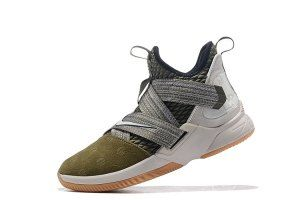 040ce0c45438 Mens Nike LeBron Soldier 12 Land and Sea Olive Canvas String Gum Light  Brown AO2609 300