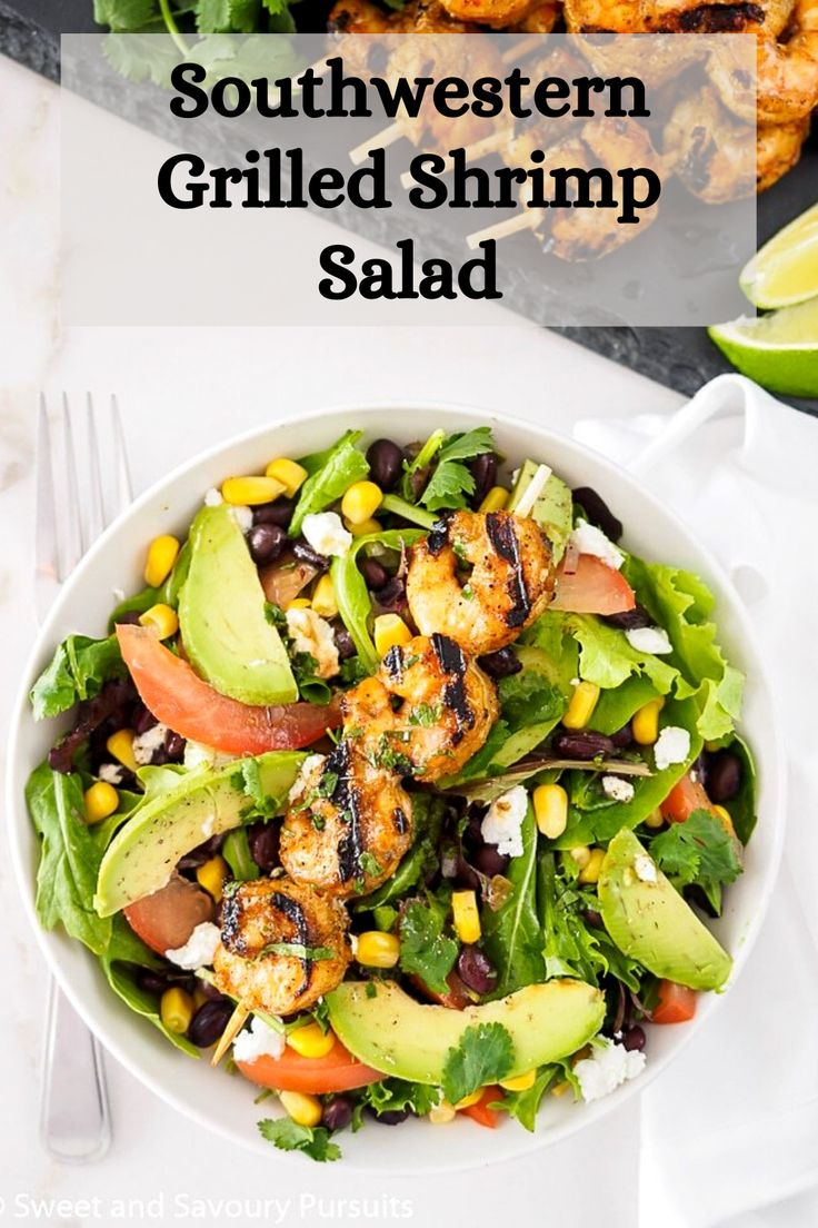 Made with simple and healthy ingredients, this Southwestern Grilled Shrimp Salad makes a fantastic meal loaded with lots…