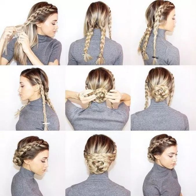 √55 Easy Hairstyles Step by Step DIY #hairstyle #haircolorideas #hairstyleidea…
