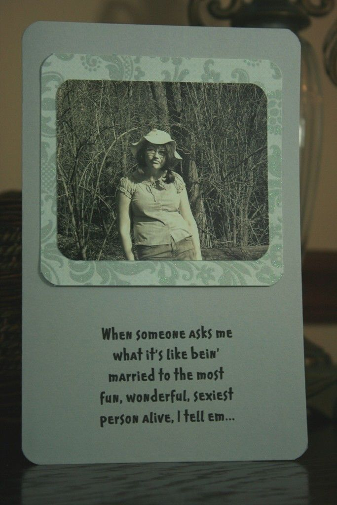 wedding anniversary greeting cardhusband%0A Hillbilly Anniversary for Husband Greeting Card  cards for him  hillbilly  card  redneck card  old photo card  family photo card