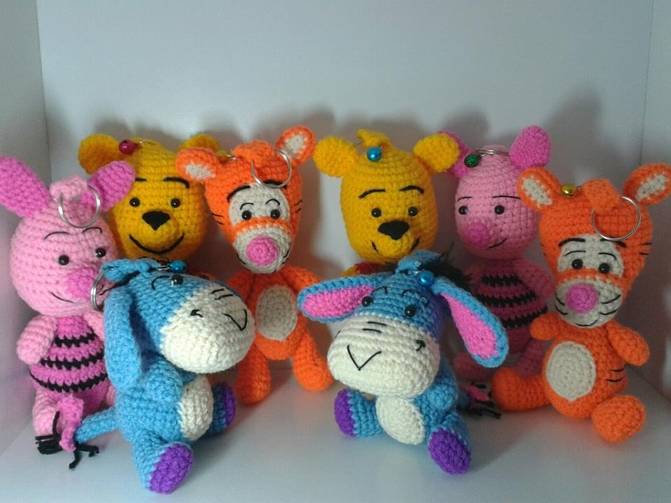 winnie the poo family crocheting/knitting things of ...