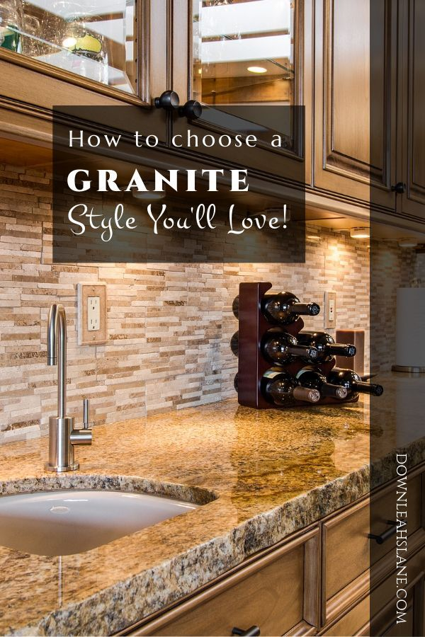 How Do You Choose A Granite Style You Ll Love Brown Countertop