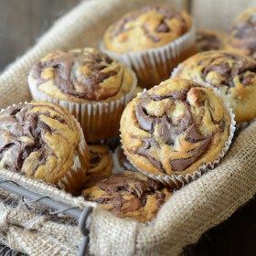 Jorge likes bananas as much as I like sugary kid cereal, glittery eyeshadow, Sex & The City reruns and shoe sales — all combined. No seriously, that is how much he loves bananas. So making these Nutella Banana Swirl Muffins was a no brainer. Bananas for him — Nutella for me. When we first met, …