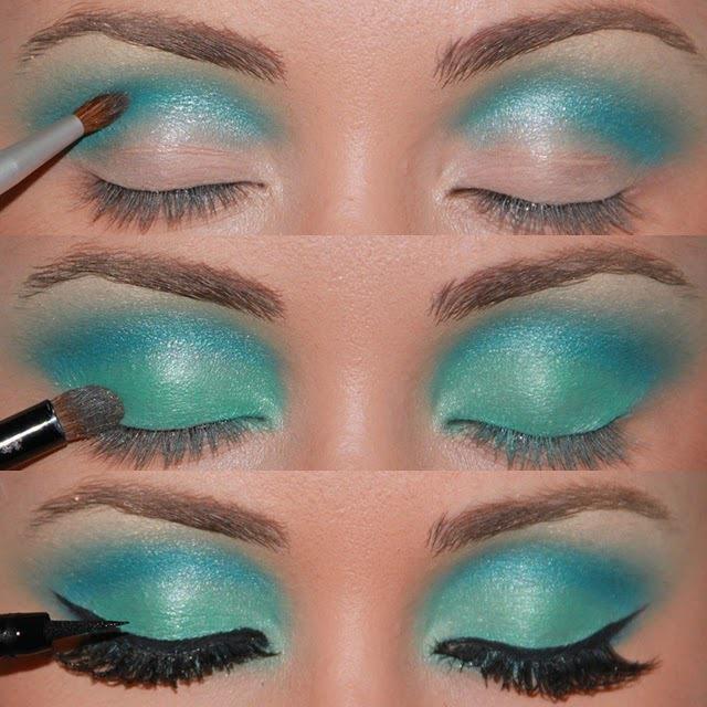 blue, eyeliner, eyes, eyeshadow, fashion