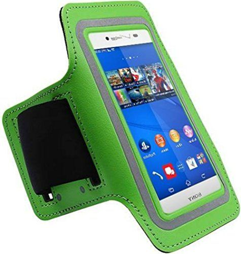 "myLife Irish Green + Coin Silver {Rain Resistant Velcro Secure Running Armband} Dual-Fit with Key Slot Jogging Arm Strap Holder for Sony Xperia Z2 and Z3 ""All Ports Accessible"" myLife Brand Products http://www.amazon.com/dp/B00UM9HH0U/ref=cm_sw_r_pi_dp_secjvb1JV4MEW"