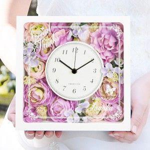 【国産時計】「エリーナ」花時計〈リボンラッピング付〉|結婚式ご両親へのプレゼント http://www.farbeco.jp/shopdetail/000000013751/ct462_1/page1/recommend/