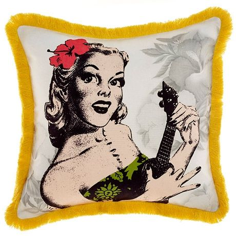 Ukulele Cushion 45x45cm   Freedom Furniture and Homewares