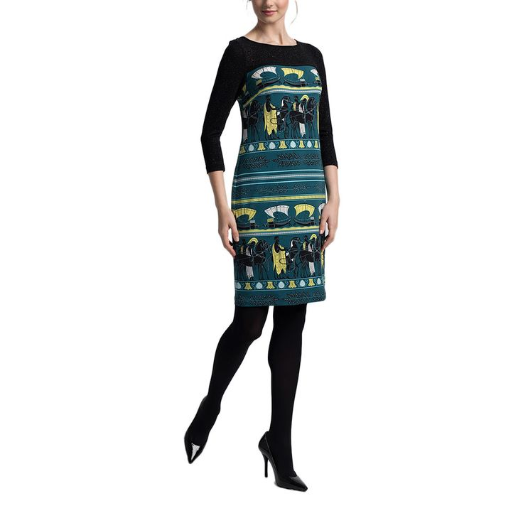 Leona Edmiston | Hannah Dress | Phoenician Boat Print by Dress the Part on Brands Exclusive