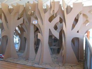 3D Cardboard Tree   cardboard Tree Maze cubby house 2