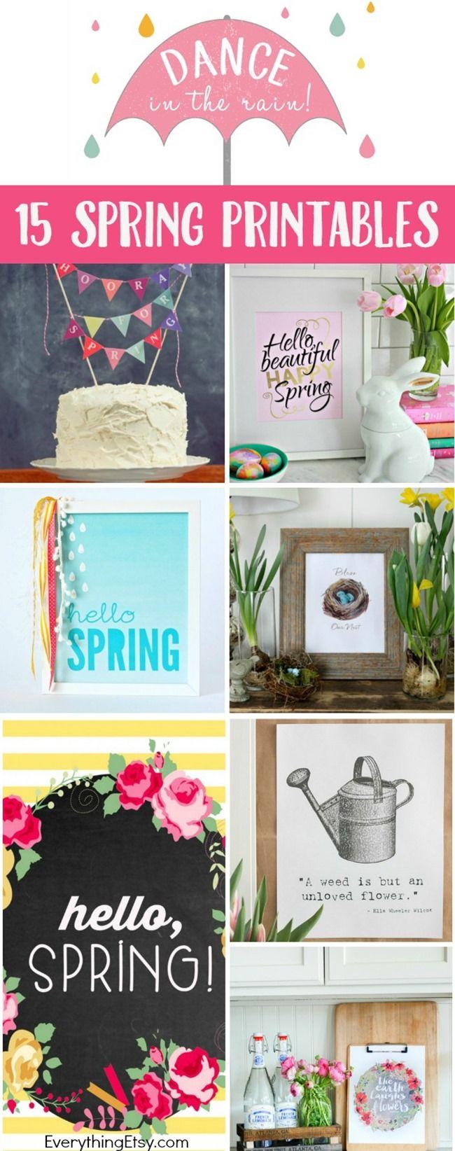 15 free spring printablesdiy decor - Home Decor Photos Free