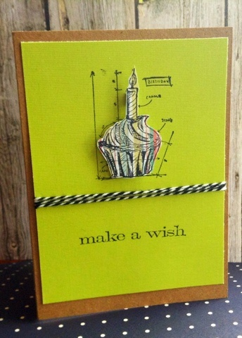 Birthday card with Tim Holtz stamps
