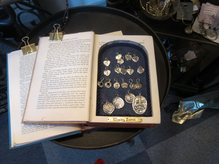 Jewelry Store Display inside an old book!