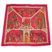 "Hermes ""La Danse du Cheval Marwari"" Cashmere and Silk Shawl 140cm"