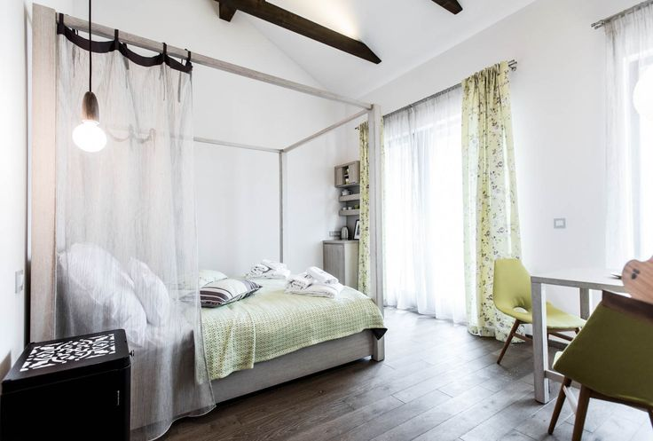 Natura Hill Zebegény, Hungary Pension interior, country-modern style, Mint room - white and mint-green, wooden furnishing