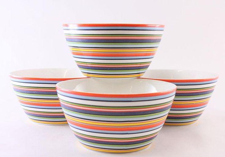 4 FRUKOSTSKÅLAR ORIGO IITTALA på Tradera.com - Övrig keramik och porslin