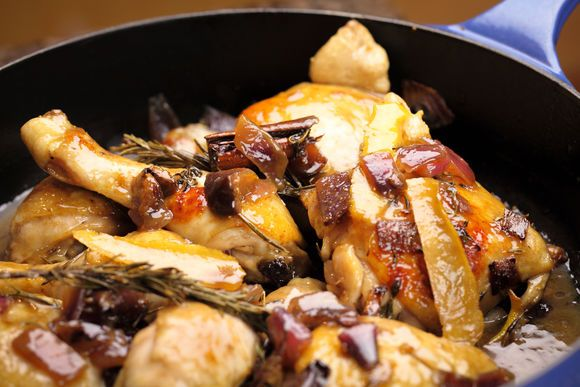 Chicken Braised with Figs, Honey and Vinegar - Maggie Beer