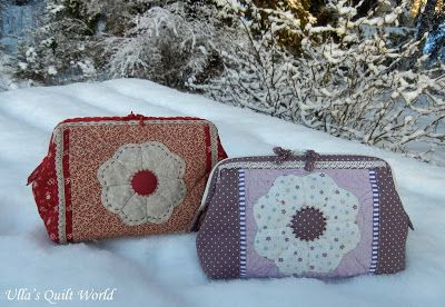 Ulla's Quilt World: Quilted pouch by Ulla's Quilt World