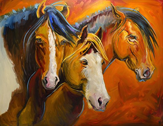 Head of the Pack by Diane whitehead Oil ~ 48 x 60 | art I ...