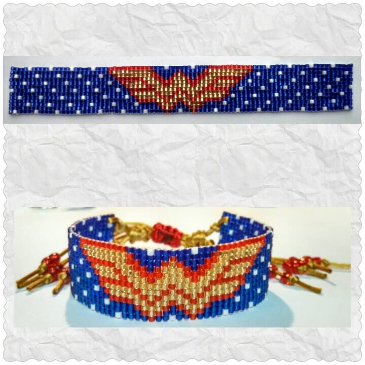 Made using delica 11/0 seed beads on a beading loom.