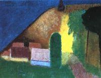 Gudhjem i forrslys by Niels Lergaard