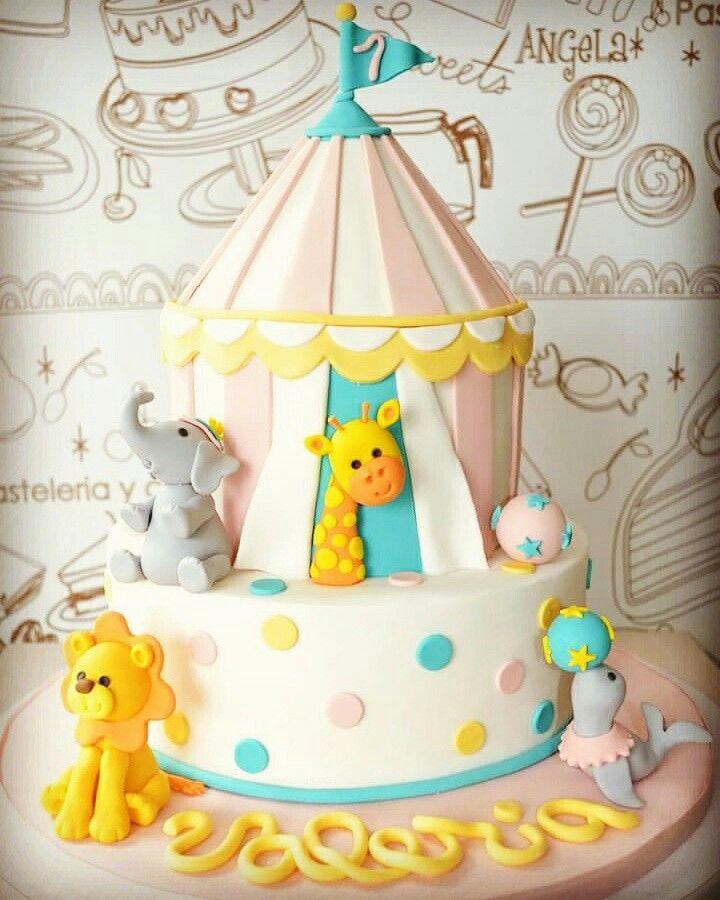 Circus cake! www.dolcellapasteleria.com