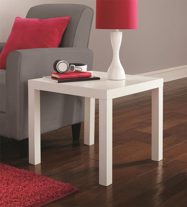 Modern End Side Table Durable Home Living Room Coffee Furniture White New Part 96