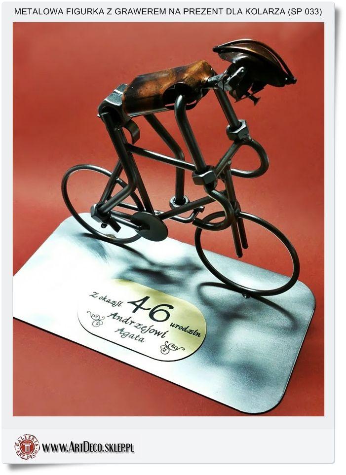 Figurka z grawerem na prezent dla kolarza