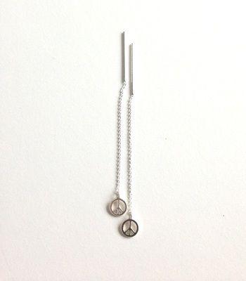 Earrings Peace Sterling Silver