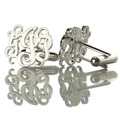 Vine Monogram Cufflinks, Find More Cufflinks at Getnamenecklace.com