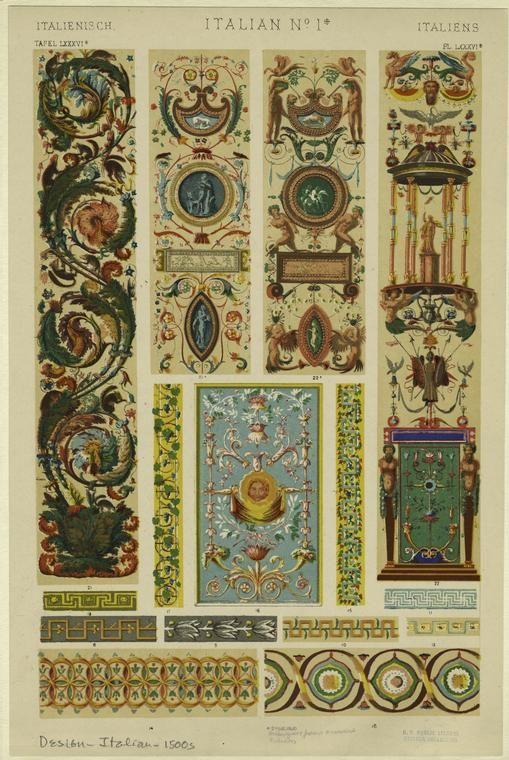Arabesques & fresco ornament, Vatican.